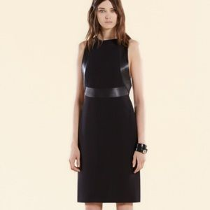 Gucci Silk & Leather Trim Dress
